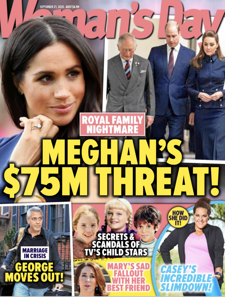 The cover of Woman's Day, dated September 21 2020