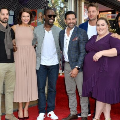 The seven main characters from This Is Us attend a Hollywood Walk Of Fame ceremony