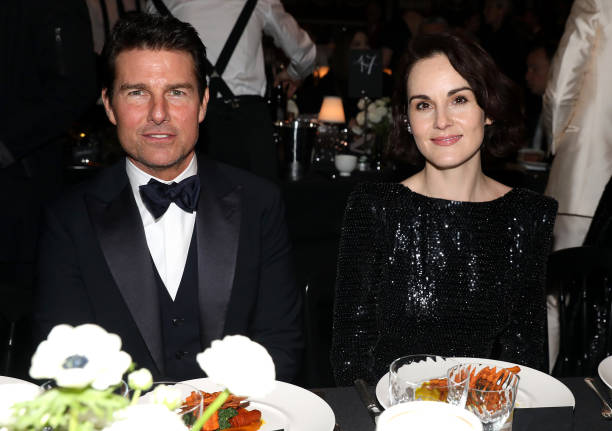Tom Cruise and Michelle Dockery during The Fashion Awards 2019 held at Royal Albert Hall