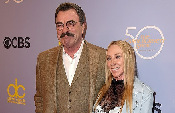 Tom Selleck with his wife Jillie Mack at a red carpet event in 2017