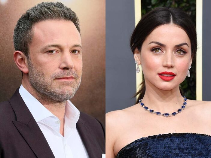 Two side-by-side photos of Ben Affleck and Ana de Armas