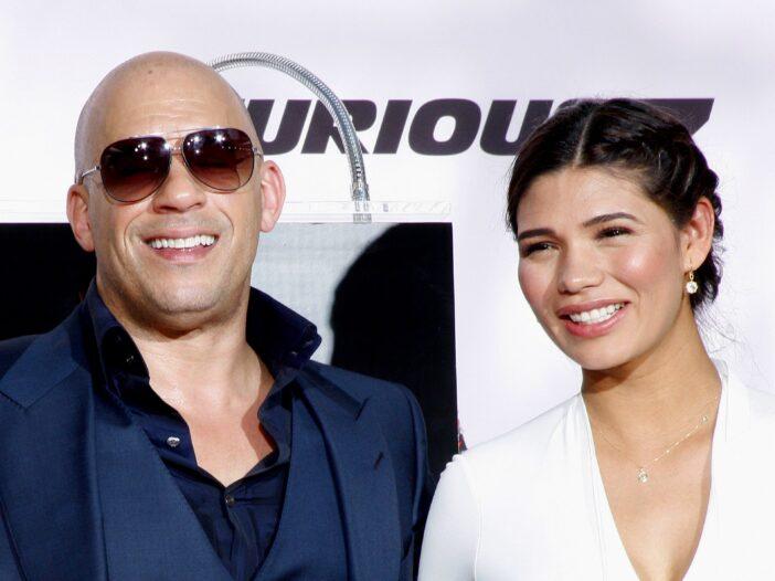 Vin Diesel and wife Palmoa Jimenez