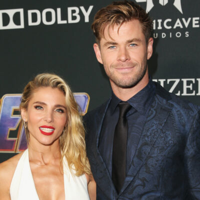 Elsa Pataky smiling with husband Chris Hemsworth
