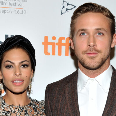 Eva Mendes on the left, Ryan Gosling on the right.