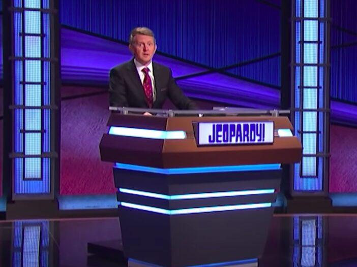 screenshot of Ken Jennings at the Jeopardy podium