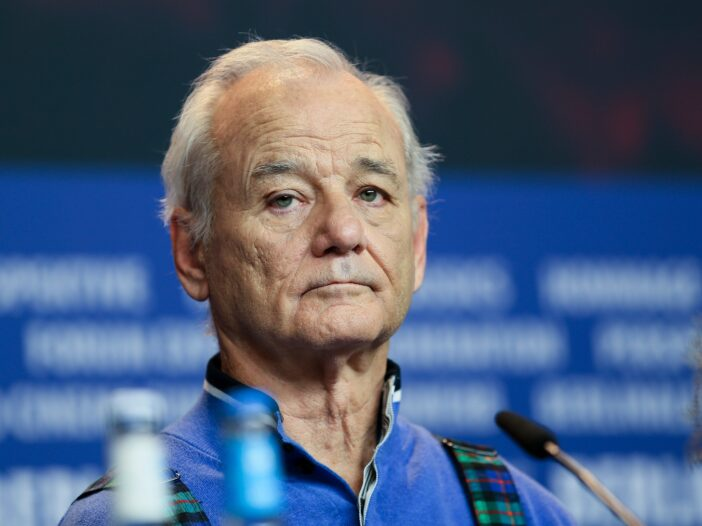 Bill Murray at a press conference for 'Isle of Dogs' in 2018