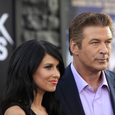 Hilaria and Alec Baldwin attend the premiere of Rock Of Ages