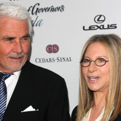 James Brolin on the left, standing with Barbra Streisand on the left.