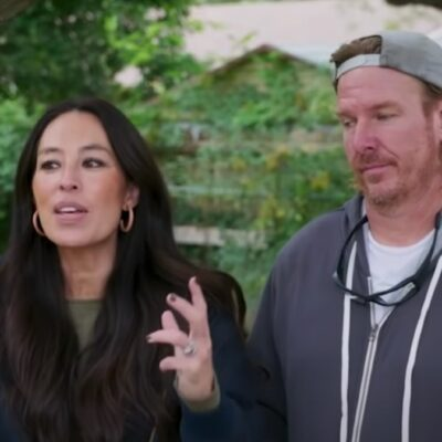 Screenshot of Joanna Gaines standing with her husband, Chip