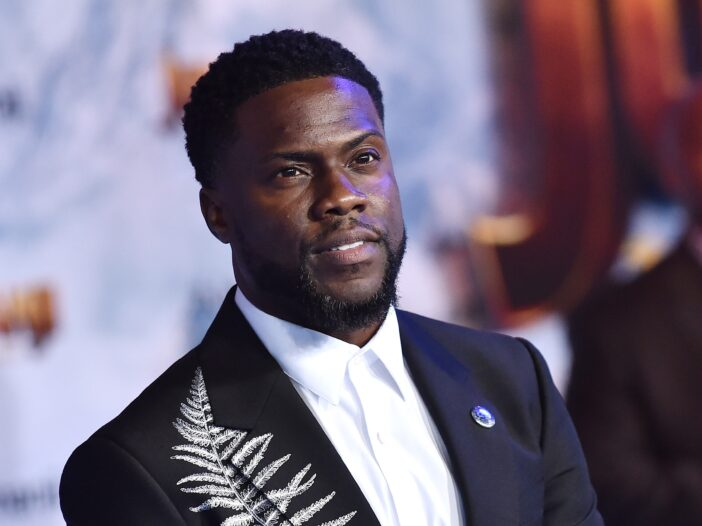 Kevin Hart at the premiere of Jumanji: The Next Level in December 2019