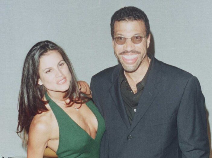 Lionel Richie and his ex-wife Diane Alexander at a party for Italian Vogue in 1996