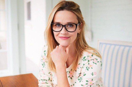 Reese Witherspoon wearing her clothing line Draper James.