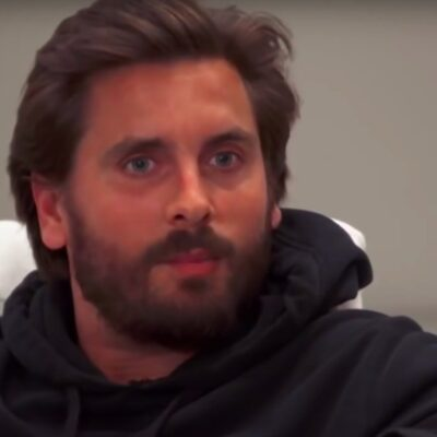 screenshot of Scott Disick in a black hoodie in Keeping Up with the Kardashians on E!