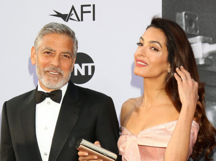 George Clooney arm-in-arm with Amal Clooney