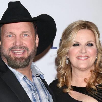 Garth Brooks smiling with wife Trisha Yearwood