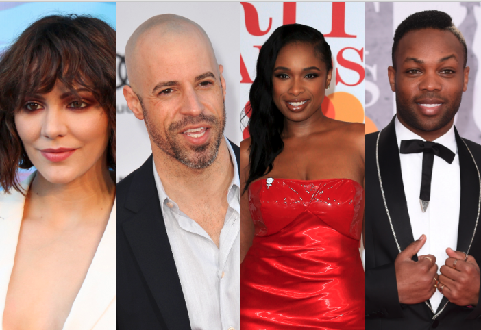 Side by side images of Katharine McPhee, Chris Daughtry, Jennifer Hudson, and Todrick Hall.