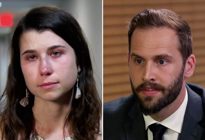 Side by side of Amber Bowles and Matt Gwynne from Married at First Sight