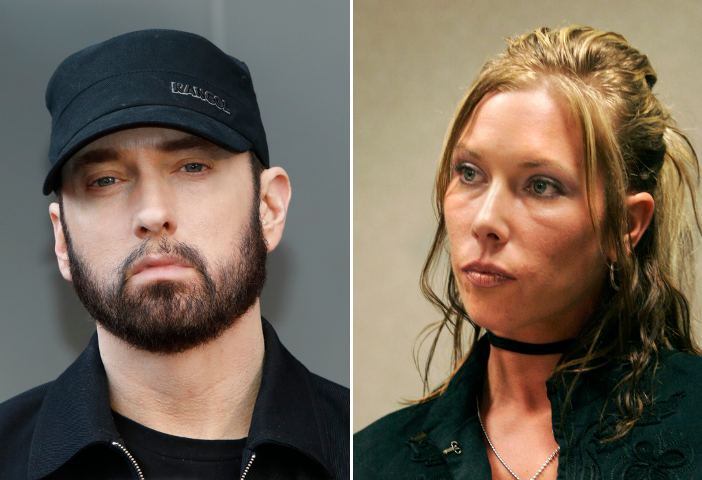 Side by side image of Eminem and his ex-wife Kimberly Anne Scott