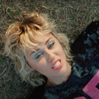 screenshot of Miley Cyrus in the Angels Like You video