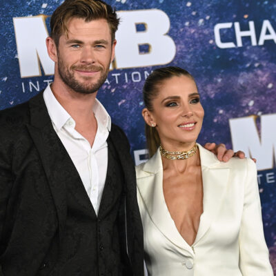 Chris Hemsworth at a red carpet event with Elsa Pataky