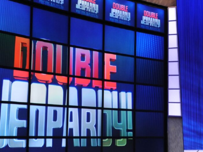 The set of the game show Jeopardy!