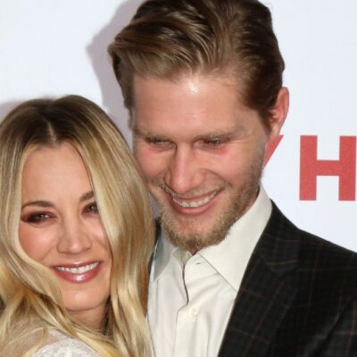 Kaley Cuoco cozies up to husband Karl Cook on the red carpet