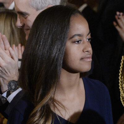 Close up of Malia Obama