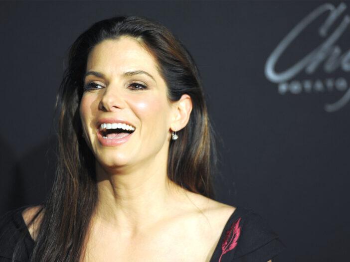 Sandra Bullock laughing.