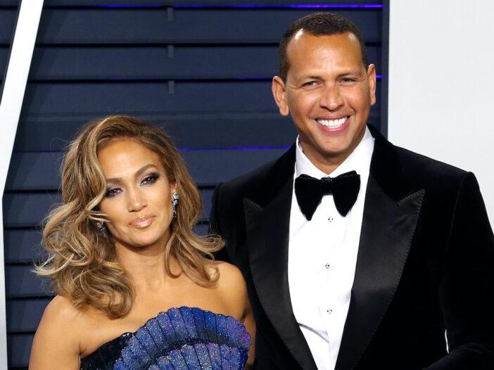 Jennifer Lopez with Alex Rodriguez