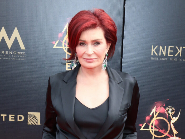 Sharon Osbourne in a black outfit