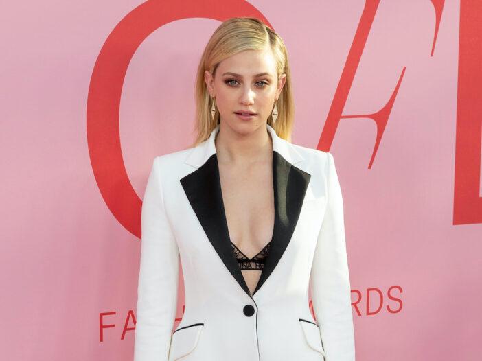 Lili Reinhart in a white jacket