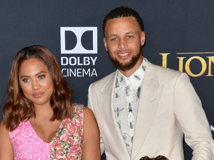 Steph Curry and his wife Ayesha