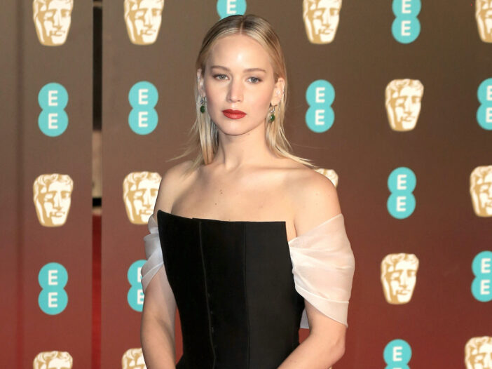 Jennifer Lawrence in a black dress