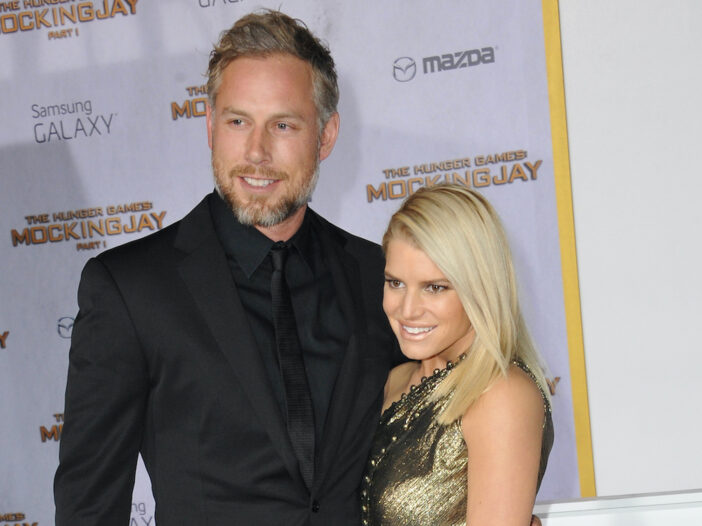 Jessica Simpson with husband Eric Johnson on the red carpet
