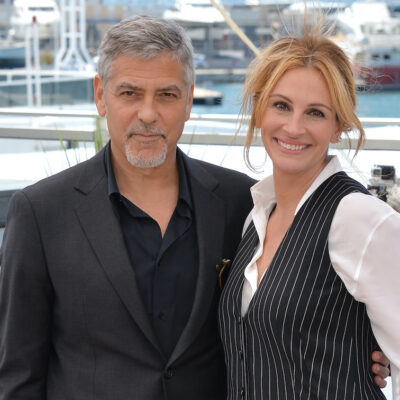 George Clooney with his arm around Julia Roberts