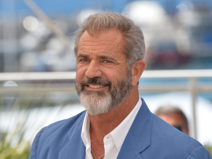 """Mel Gibson at the photocall for """"Blood Father"""" in France in 2016."""