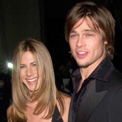 2000 photo of Brad Pitt with Jennifer Aniston