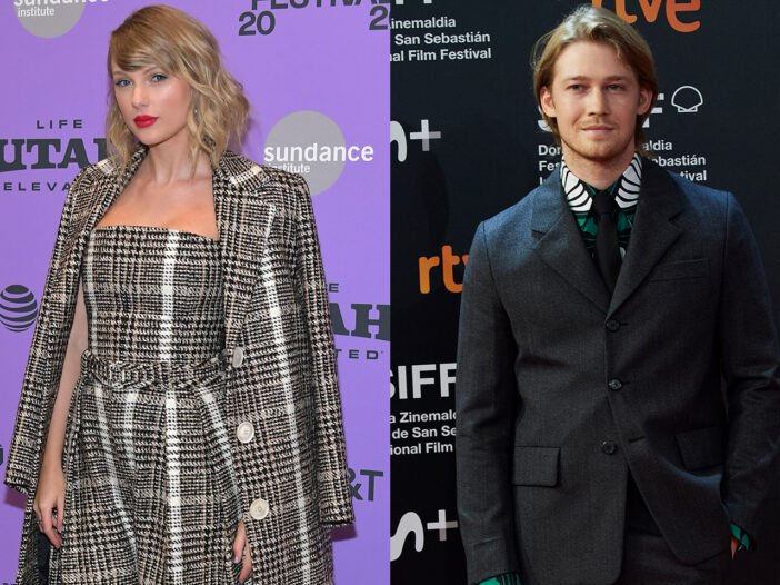 side-by-side photos of Taylor Swift (left) and Joe Alwyn (right)