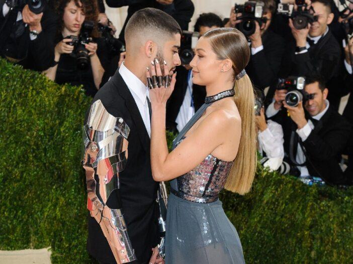 Zayn Malik and Gigi Hadid share a tender moment at the Met Gala