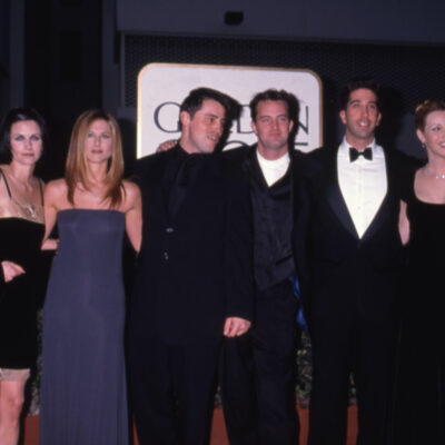 the cast of Friends on the red carpet