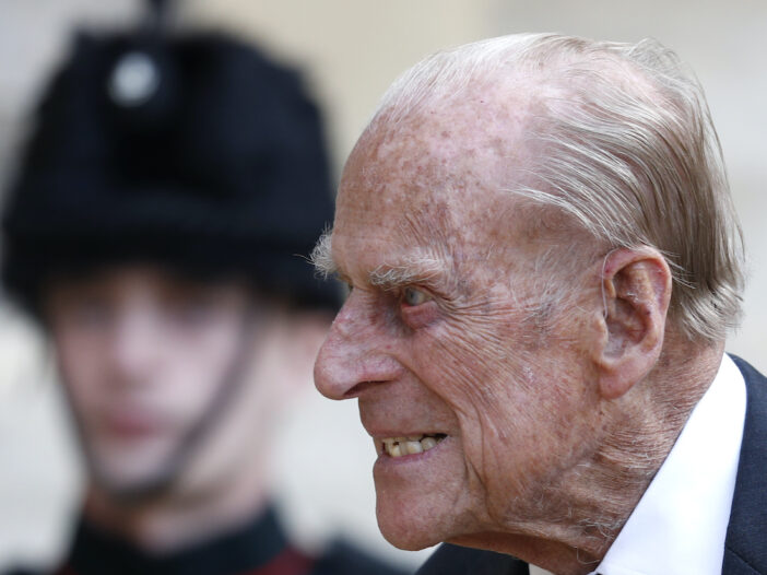 close up of Prince Philip