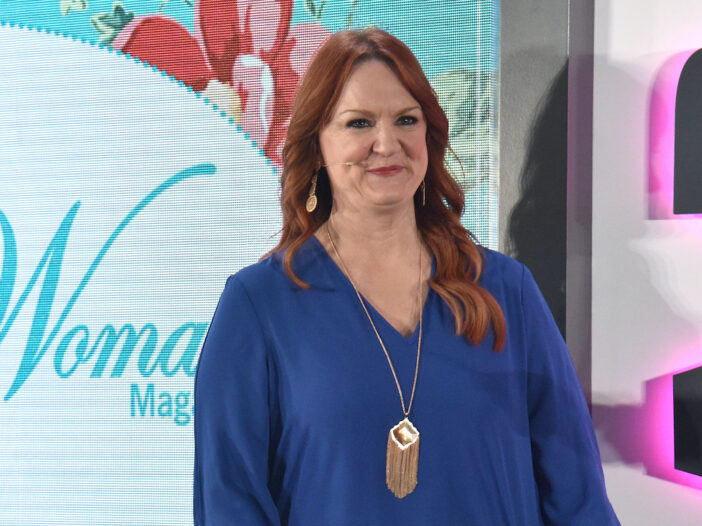 Ree Drummond smiling in a blue blouse