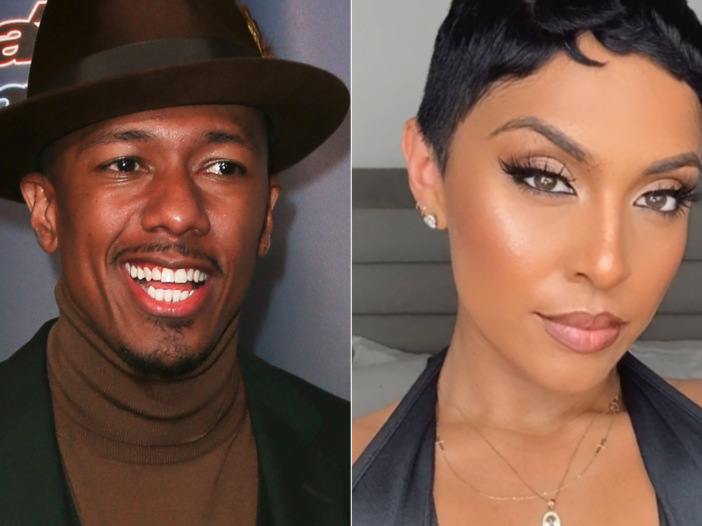 Side by side image of Nick Cannon and mother of twins, Abby De La Rosa