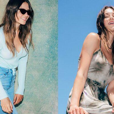 Models showcasing Amazon's Wild Meadow fashion line.