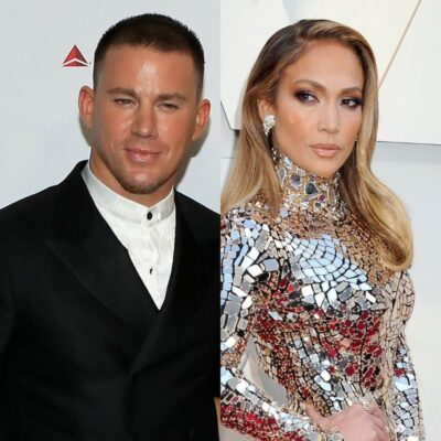 side by side photos of Channing Tatum and Jennifer Lopez