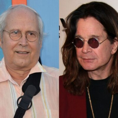 side by side pics of Chevy Chase and Ozzy Osbourne