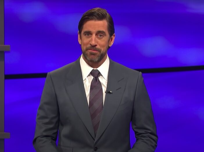screenshot of Aaron Rodgers on Jeopardy!