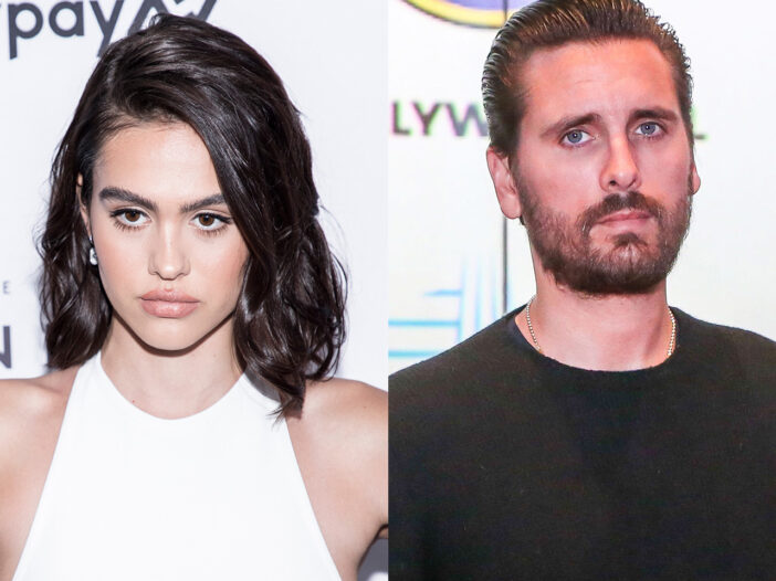 Side-by-side photos of Amelia Hamlin on the left, Scott Disick on the right.