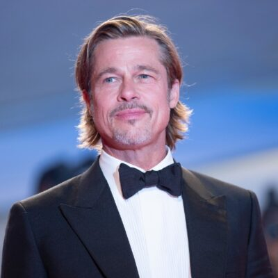 Brad Pitt wears a black tuxedo to the premiere of Ad Astra