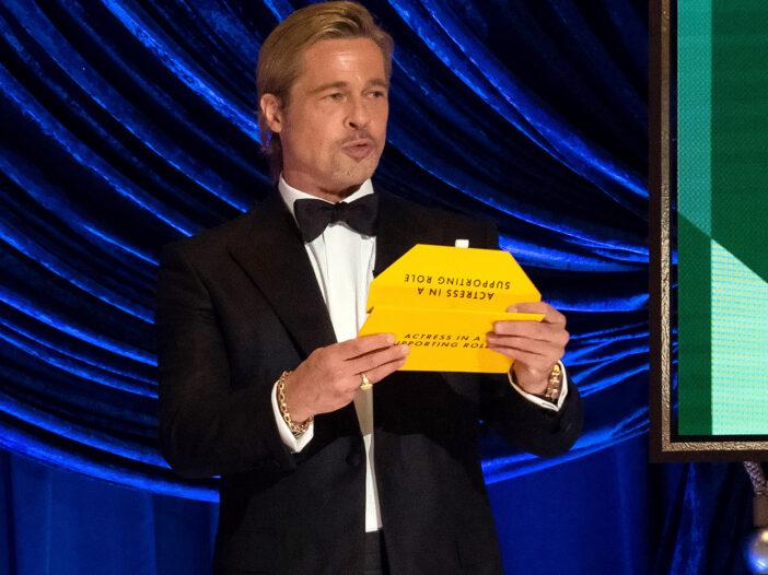 Brad Pitt Presenting at the 93rd Academy Awards.